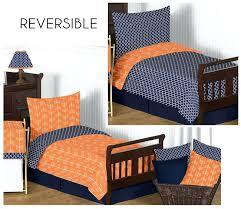 blue toddler bedding set sweet designs navy blue orange arrow boy girl toddler designer bedding set blue toddler bedding
