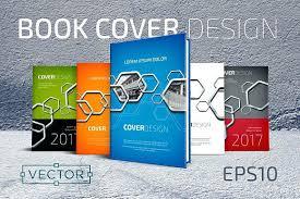 hexagons vector book cover templates brochure creative free covers ebook design template psd cre