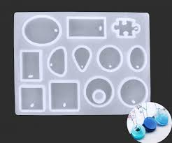 12 trays mix cabochons pendant w hole jewelry making pazzle silicone mold frame setting for