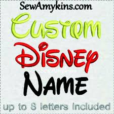 Disney Font Your Name Or Word Custom Digitized Embroidery File Walt Disney Font Alphabet Letters Initials