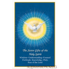 confirmation seven gifts holy card set of 100