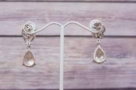 swarovski earring bridal earring wedding chandelier earring vintage style earrings rhinestone earrings