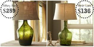 decor look alikes pottery barn clift glass table lamp