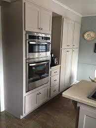 Martha Stewart Sharkey Gray Cabinets Through Home Depot Kitchen