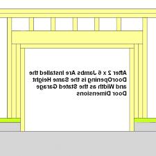 garage door framinghow to frame a garage door 9  Home Decoration