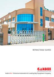 retractable gates  gandhi automations pvt ltd  pdf catalogue