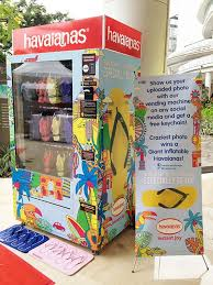 Havaianas Vending Machine Locations Inspiration Havaianas Vending Machine In Central Park Mall Jakarta This Needs