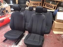 bmw f30 2016 16 black cloth interior seats breaking 1 3 5 6 7 series