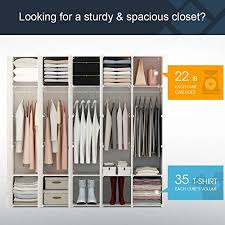 sturdy hanging closet organizer. Perfect Closet KOUSI Portable Clothes Closet Wardrobe Bedroom Armoire Storage Organizer  With Doors Capacious U0026 Sturdy Throughout Sturdy Hanging T