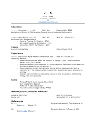 How To Improve Resume For Internship Actuary