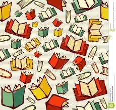 back to education cartoon books seamless pattern backgrou
