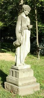 lot art cement garden statue female