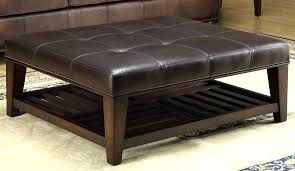 square leather coffee table tufted leather coffee table new new striking square leather ottoman coffee table