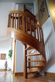 11 Modern Space Saving Stairs Ideas : Wooden Spiral Staircase In Corner For  Space Saving Ideas