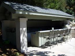 Outdoor Kitchen Roof Enclosed Outdoor Kitchen With A Solid Roof And Two Walls