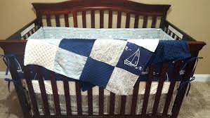 navy blue crib sheets