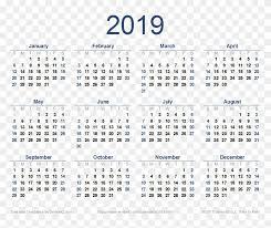 2019 Calendar Png Image Transparent Png 847x643 583984