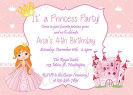 Birthday Invitation Princess Theme