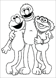 Sesame Street Number Coloring Pages Free Printable Sesame Street