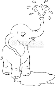 Small Picture Baby Elephant Coloring Page Vector Art Thinkstock mini book