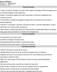Chartered Accountant Resumes Accountant Resume Page 2 John4279