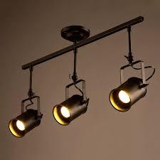 diy track lighting. vintage ceiling spot track light mklot adjustable 3light lighting with cone diy d
