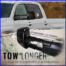 OPT7 Truck Tow Trailer Mirrors Pickup Heated Powered Extendable ...
