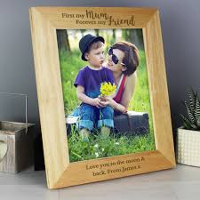 personalised first my mum forever my friend 8x10 wooden photo frame