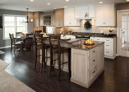 Wooden Floors In Kitchen Kitchen Designs White Cabinets Wood Floors Modern Open Kitchen