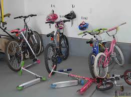 the perfect way to organize those bikes and scooters all over the garage free and