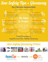 sun safety giveaway for skin cancer awareness month infographic sun safety