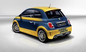 2016 FIAT 500 Abarth Hatchback Blue and Yellow Combination Color ...