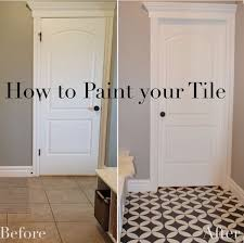 tile paint. Brilliant Paint The Girl Who Painted Her Tile What  Remington Avenue Bathroom Flooring Intended Tile Paint