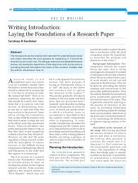 Research Paper Samples Introduction Example Examples Paragraph