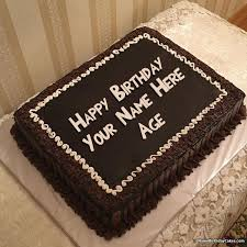 birthday cake with name and