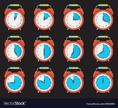 Ten Minutes Countdown Alarm Clock Time Countdown Set Royalty Free Vector Image
