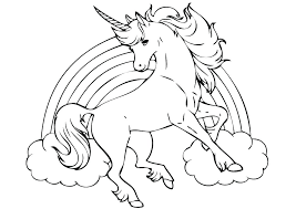 Unicorn Printable Coloring Pages Flying Cute Color In Free Hair