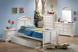 Coaster Furniture Merlin Collection White Bedroom Set(Twin Bed ...