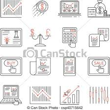 Investment Style Chart Finance And Stock Line Icons Investment Strategy Linear Signs Vector