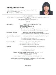 Examples Of Resume For Job Application Sample Application Resume