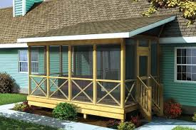 screened covered patio ideas. Screened Porch W/ Shed Roof - Project Plan 90012 Covered Patio Ideas D