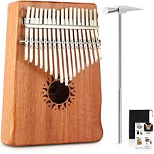 Donner Kalimba <b>17 Key Thumb</b> Piano Solid <b>Finger</b> Piano Mahogany ...