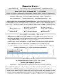 It Resume Extraordinary VP Of IT Resume IT Director Resume Executive Resume Writer For