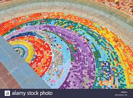 Mosaic Design Mosaic Background Ceramic Tiles Colorful Rainbow