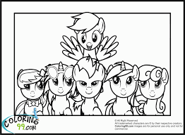 my little pony coloring pages team colors