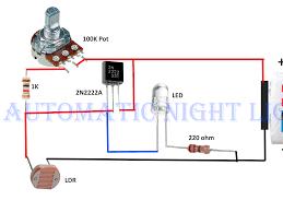 Light Sensor Using Ic 741 Automatic Night Light Circuit With One Led Music Box Circuit