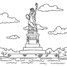 Small Picture Statue of Liberty in Bedloes Island Coloring Page Download