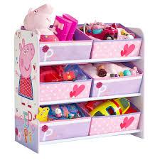 Peppa Pig Bedroom Furniture Kids Character 6 Bin Storage Unit Bedroom Furniture Disney Peppa