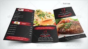 Fold Menu Template Restaurant Brochure Cafe Free Download Tri