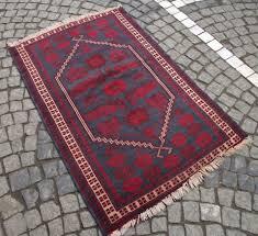 vintage handmade thin wool oushak rug 32 x 48 burdy fl turkish area kilim